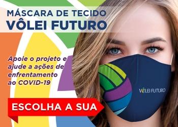 Ajude o Vôlei Futuro. Clique aqui e escolha a sua máscara!