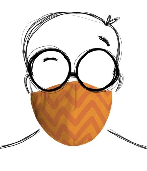 Máscara de Tecido Dupla Camada Sami Linha Abacaxi Chevron TopMask