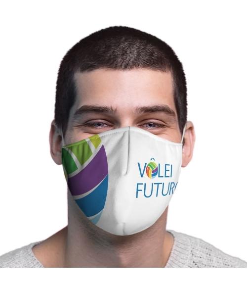Máscara de Tecido Dupla Camada Vôlei Futuro 04 TopMask