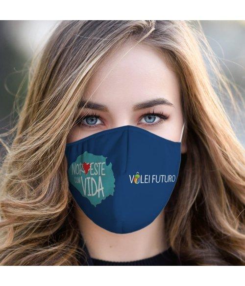 Máscara de Tecido Dupla Camada Vôlei Futuro 12 TopMask