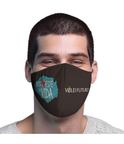 Máscara de Tecido Dupla Camada Vôlei Futuro 15 TopMask
