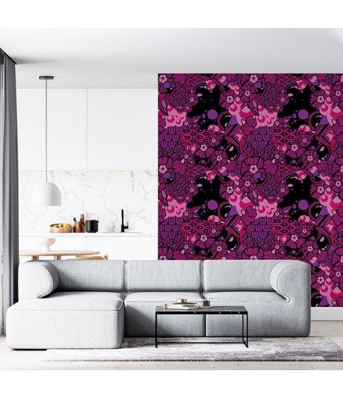Papel de Parede  Violeta Linha Arco Íris - Artista Xodó -  3 metros x 117 cm -